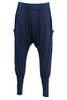navy drop crutch pants