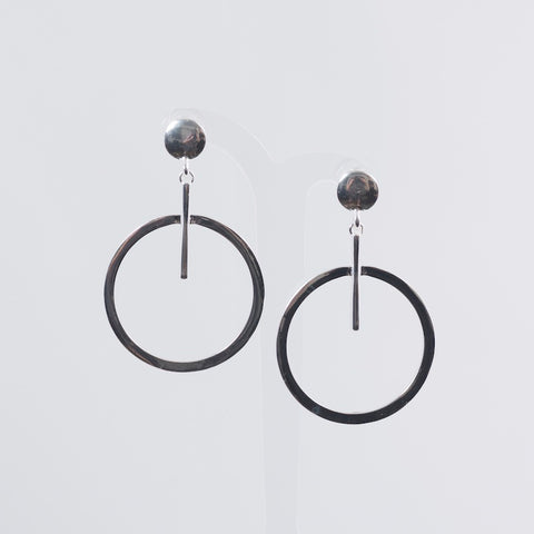 Stick and Circle Earrings