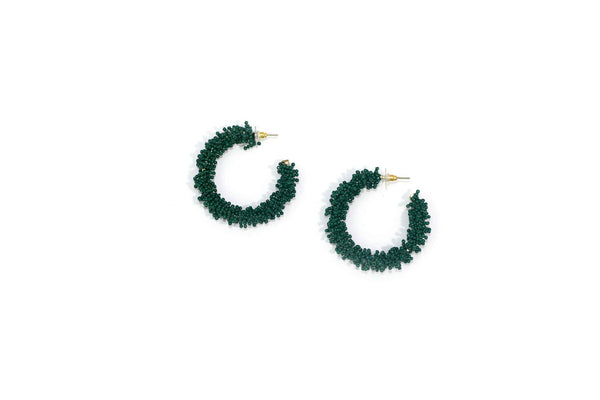 Zoda tiny beaded hoop earrings