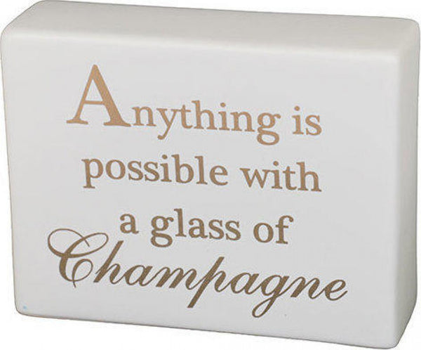 Lavida - Ceramic Champagne Sign