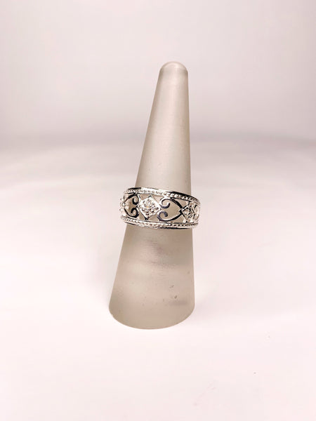 sterling silver royal ring