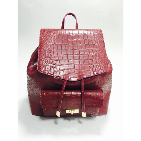 Faux Croc Backpack