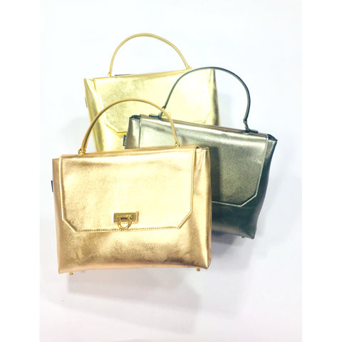 Metallic piku Handbag