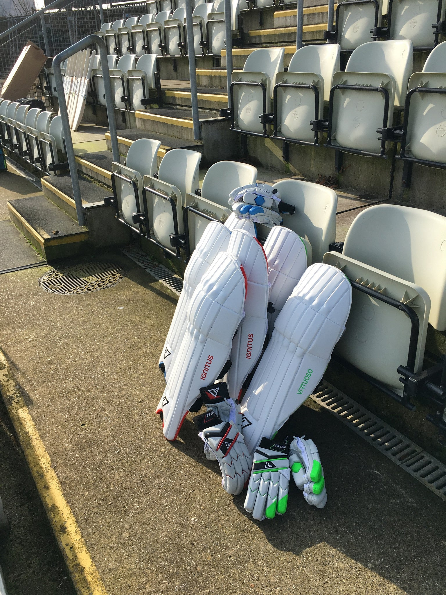 PRYZM Cricket Pads and Gloves