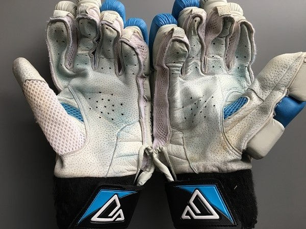 Used PRYZM Cricket Batting Gloves with Pittards Leather Palms