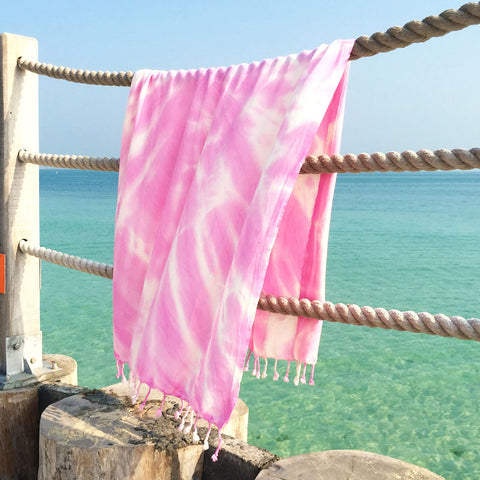 Strawberry Swirl - Koala Handloomed Beach Towels Dubai