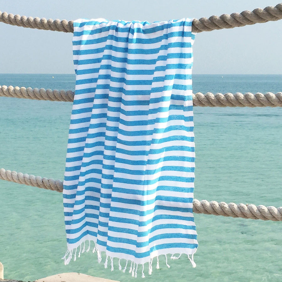 Hello Sailor / Blue - Koala Handloomed Beach Towels Dubai