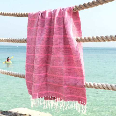 Fuchsia Forever - Koala Handloomed Beach Towels Dubai