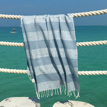 Serene Dream / Grey - Koala Handloomed Beach Towels Dubai