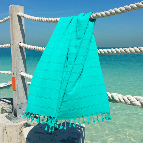 Levi / Turquoise - Koala Handloomed Beach Towels Dubai