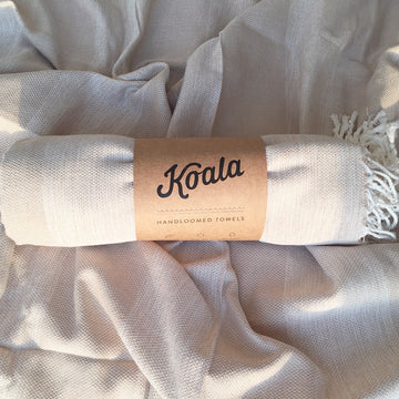 Serene Dream / Beige - Koala Handloomed Beach Towels Dubai