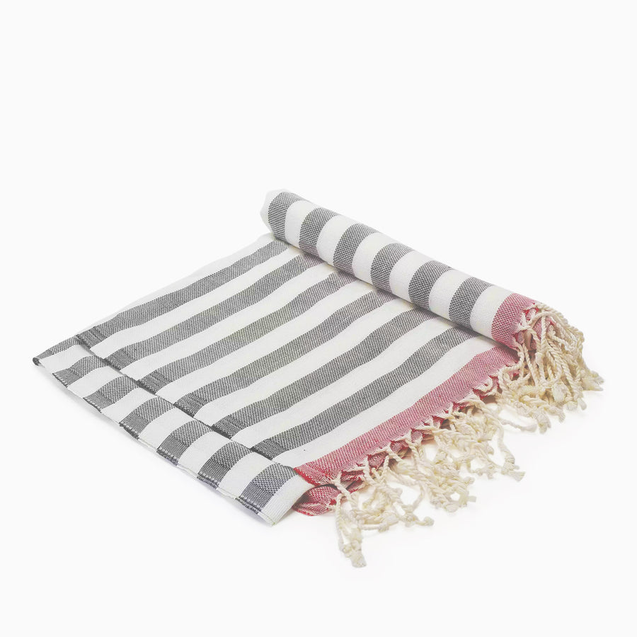Happily Ever After / Red Grey - Koala Handloomed Beach Towels Dubai