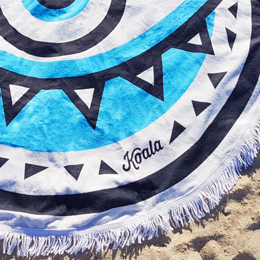 UTOPIA / Blue - Koala Handloomed Beach Towels Dubai
