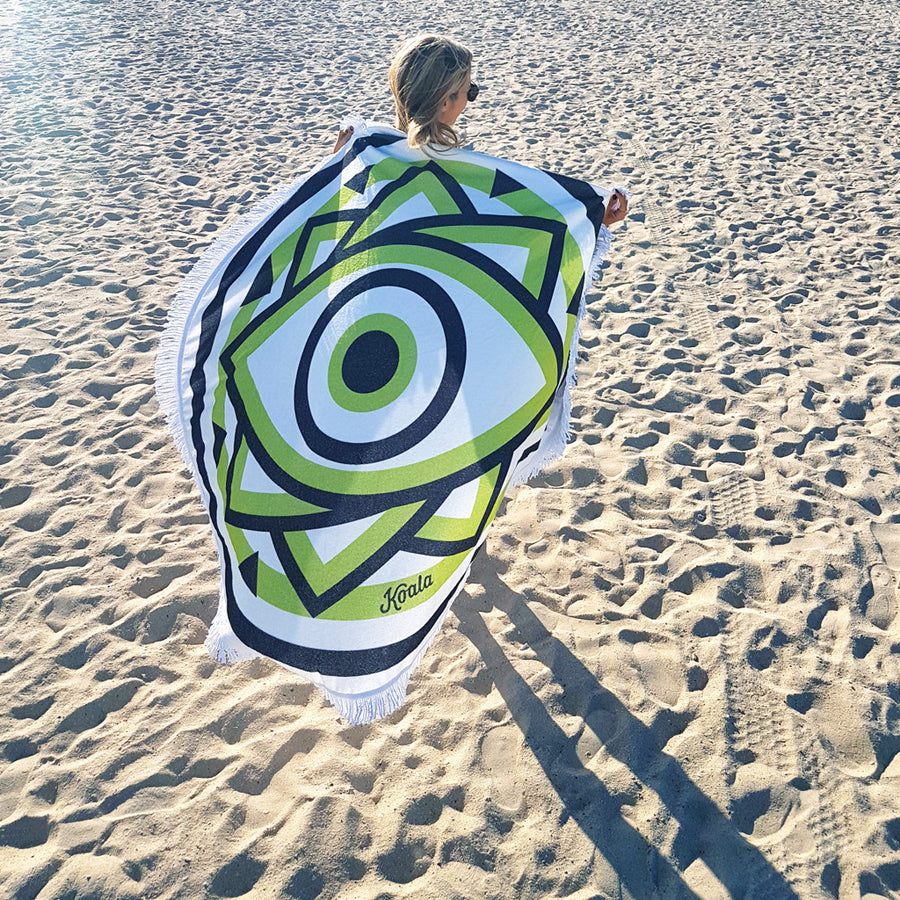 UTOPIA / Green - Koala Handloomed Beach Towels Dubai