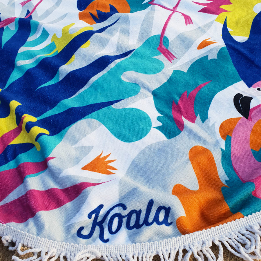 Flamingo Fiesta - Koala Handloomed Beach Towels Dubai