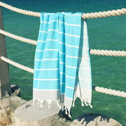 Terry / Baby Blue - Koala Handloomed Beach Towels Dubai