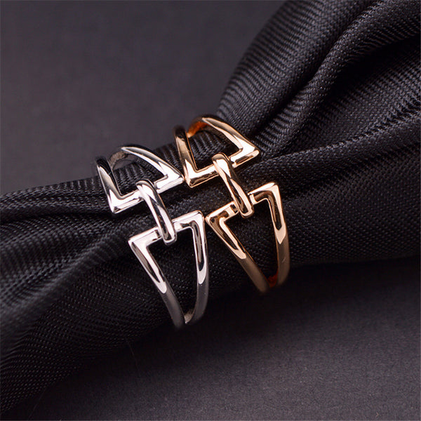 H Ring - Silver/ Rosegold - themultistorey.co