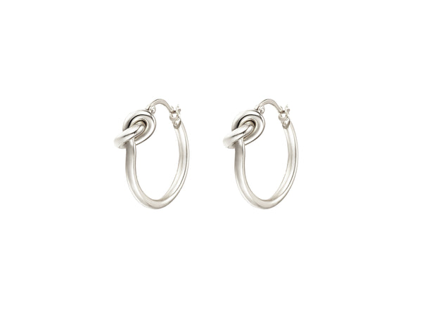 Gwen Knot Earrings - Silver - themultistorey.co