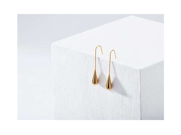 Raindrop Earrings - Gold