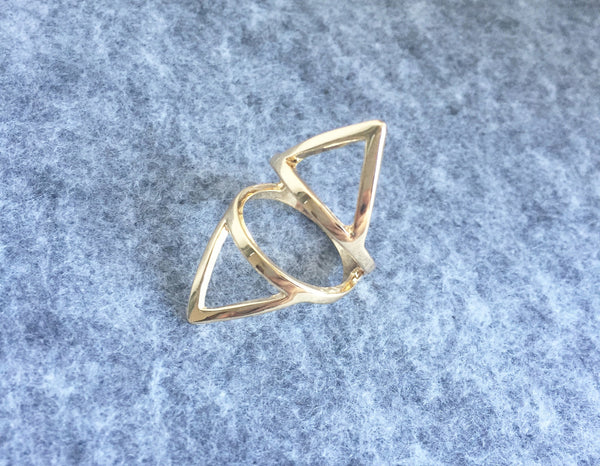 Double Triangle Ring - Silver - themultistorey.co
