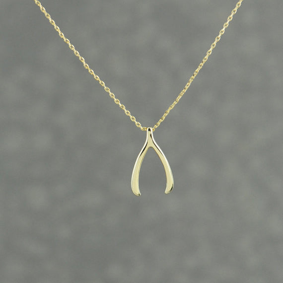 Wishbone Necklace - Gold - themultistorey.co