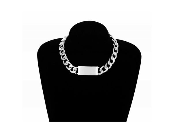 ID Chain Choker Necklace - themultistorey.co