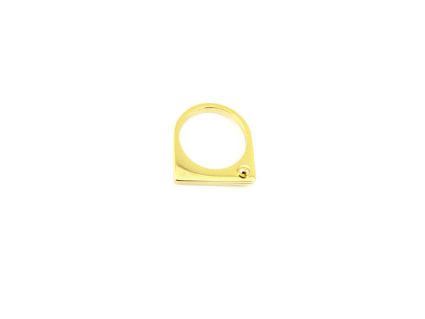 Thin Bolt Ring - Gold - themultistorey.co