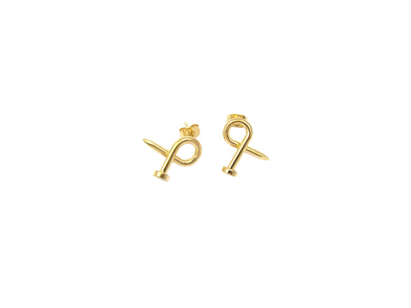 Nail Earrings - Gold - themultistorey.co