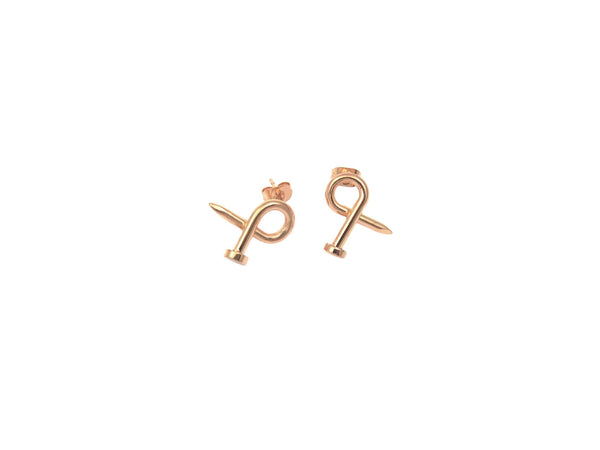 Nail Earrings - Rosegold - themultistorey.co