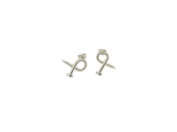 Nail Earrings - Silver - themultistorey.co