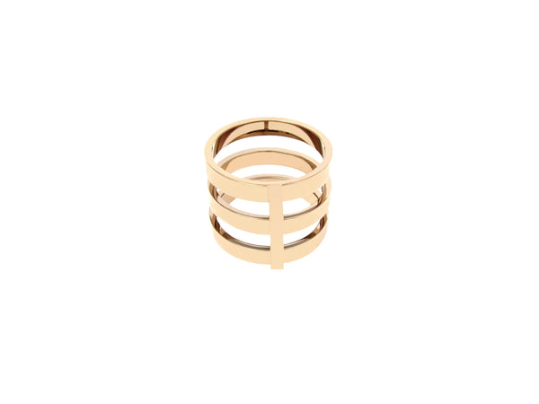 Lea Triple Ring - Rosegold - themultistorey.co
