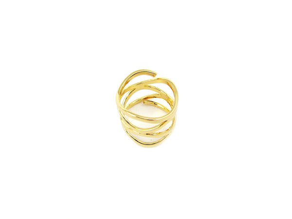 Swirl Ring - Gold - themultistorey.co