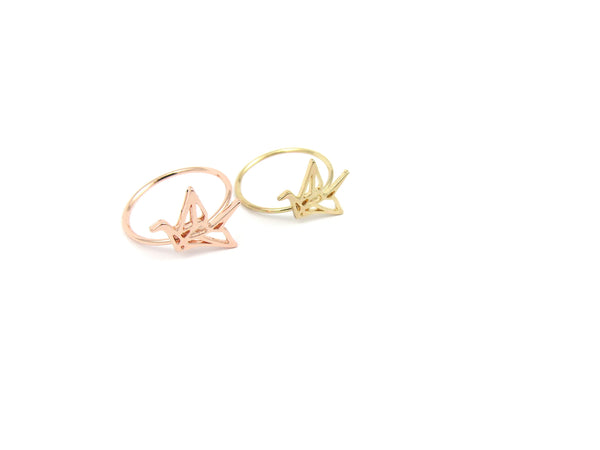 Origami Crane Ring - Gold - themultistorey.co