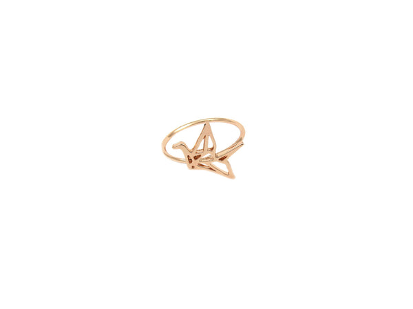 Origami Crane Ring - Rosegold - themultistorey.co