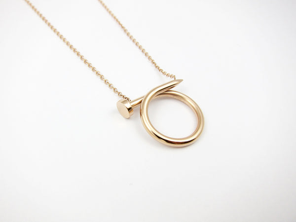 Nail Necklace - Rosegold - themultistorey.co
