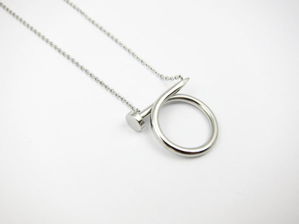 Nail Necklace - Silver - themultistorey.co