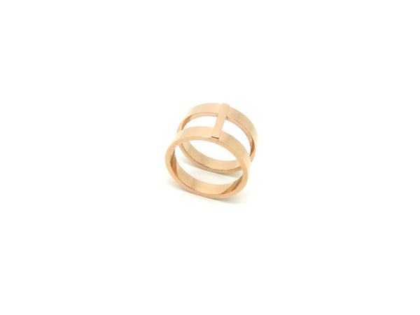 Lea Double Ring - Rosegold - themultistorey.co