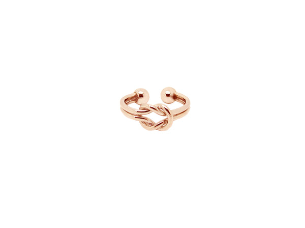 Double Knot Ring - Rosegold - themultistorey.co