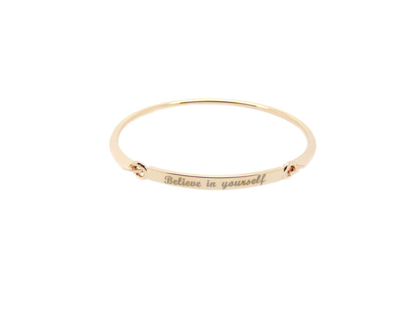 Believe in Yourself Bangle - Rosegold - themultistorey.co