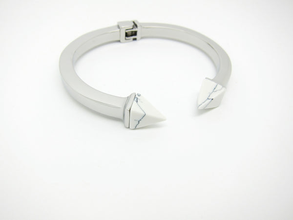 Kate Marble Bangle - Silver - themultistorey.co