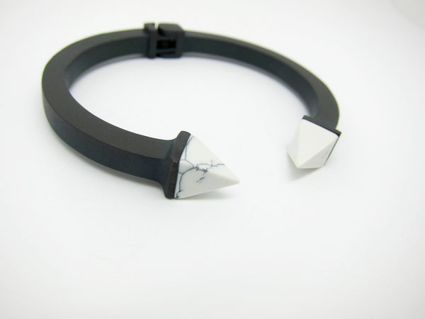 Kate Marble Bangle - Matt Black - themultistorey.co