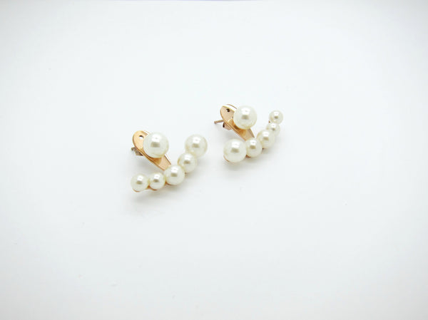 Vera Pearls Earrings - Rosegold - themultistorey.co