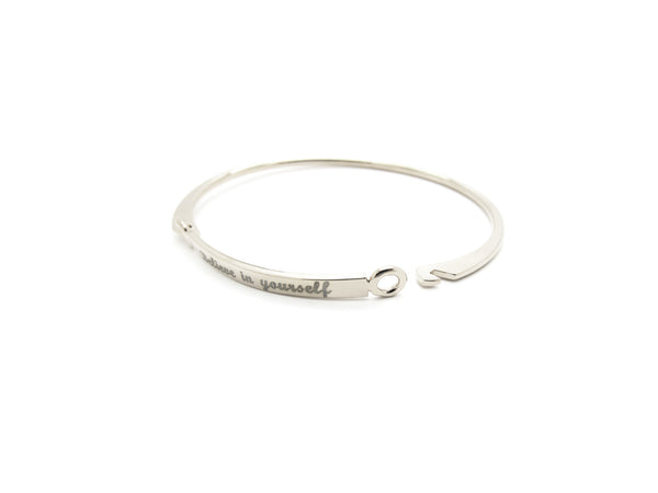 Believe in Yourself Bangle - Silver - themultistorey.co