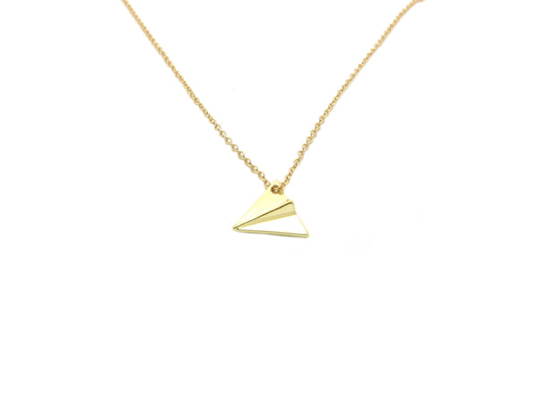 Origami Plane Necklace - Gold - themultistorey.co