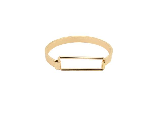 Rectangle Bangle - Rosegold - themultistorey.co
