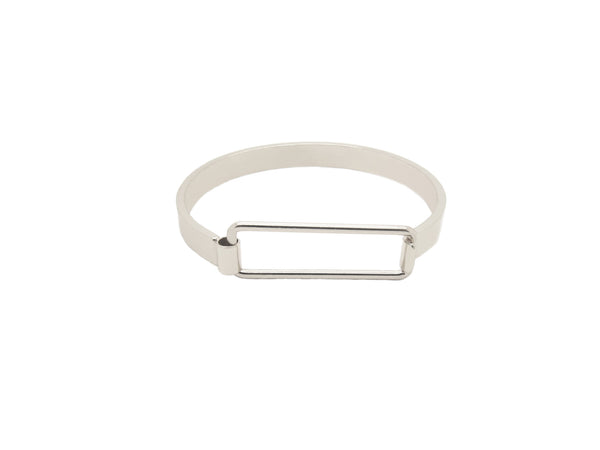 Rectangle Bangle - Silver - themultistorey.co