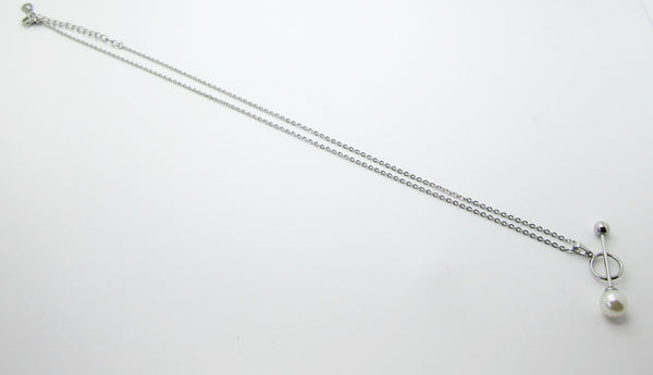 Chloe Pearls Necklace - Silver - themultistorey.co