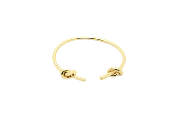 Double Ended Knots Bangle - Gold - themultistorey.co