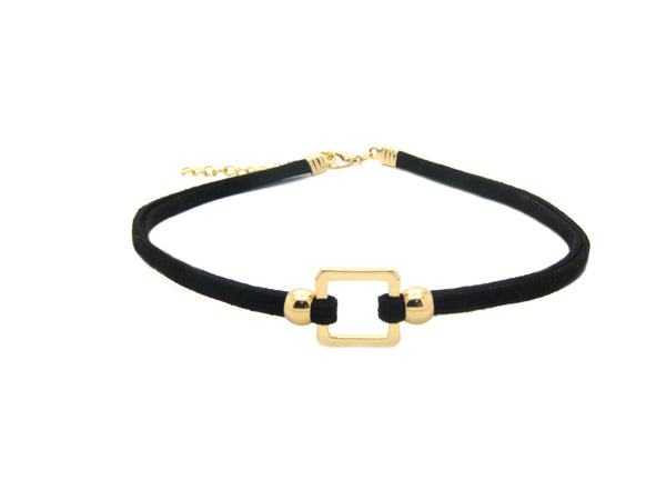 Square/ Round Choker - Gold - themultistorey.co