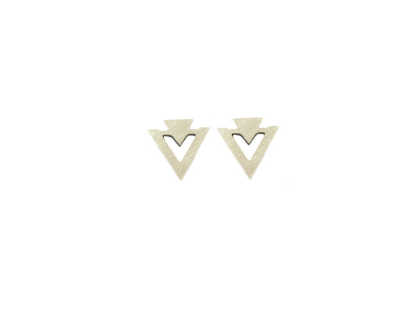 Double Triangle Earrings - Gold / Silver - themultistorey.co
